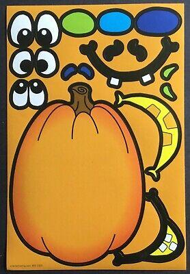 Vintage Stickers - Halloween - Decorate A Pumpkin - Excellent!!