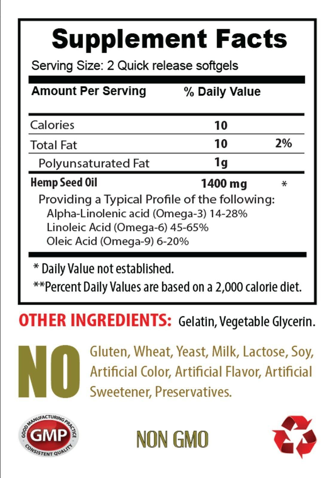 hemp oil for pain relief, ORGANIC HEMP SEED OIL 1400mg, omega acids 1 Bottle 1