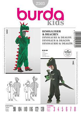 Burda Kids Schnittmuster - Kostüm - Dinosaurier - Drachen - - Kids Drache Kostüm