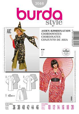 Burda Style Schnittmuster - Kostüm - Asien-Kombination - Kimono - - Schnitt Kostüm