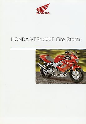Prospekt 2001 Honda VTR 1000 F Fire Storm 2 01 Broschüre Motorrad brochure Japan