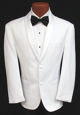 Classic White Shawl Tuxedo Dinner Jacket 2 Button Masonic Shriner Coat Wedding - Tux Coat