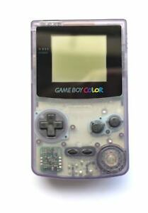 Nintendo Gameboy Colour GBC Clear Atomic Purple Console System Tested Working