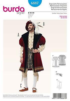 Burda Schnittmuster - Renaissance Kostüm - Mantel, Hut & Strümpfe - Nr. (Kostüme Renaissance Muster)