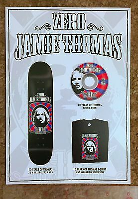 Used, JAMIE THOMAS INVISIBLE ZERO FALLEN SKATEBOARD 10 YRS XL POSTCARD CATALOG POSTER  for sale  Shipping to India