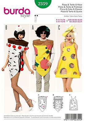 Burda Style Schnittmuster - Fasching - Pizza, Torte & Käse Kostüm - Nr. (Käse Kostüme)