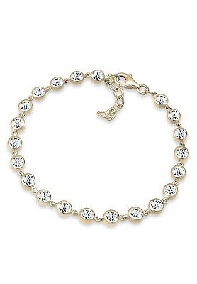 Funkelndes Tennisarmband weiß 925er Silber Swarovski® Kristalle Armband ELLI NEU