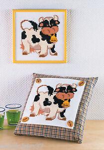 Permin Kit Broderie Point de Croix Compté pour Enfant ou Débutant Vache   eBay