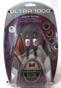 Monster-Cable-Ultra-1000-Fiber-Optic-Audio-Cable-4-FT-THX-Certified