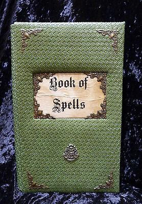 Book of Spells.Harry Potter XL Handmade green journal album.Book of Shadows