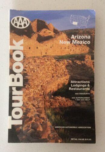 AAA Tourbook VTG 1994 Arizona New Mexico Tourist Travel Map