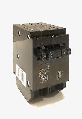 Square D Quad Circuit Breaker Homt2020240 20 Amp 1 Pole 40 Amp 2 Pole Homeline