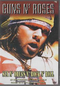Guns N' Roses - Sex N' Drugs N' Rock N' Roll (DVD, 2004) Documentary NEW