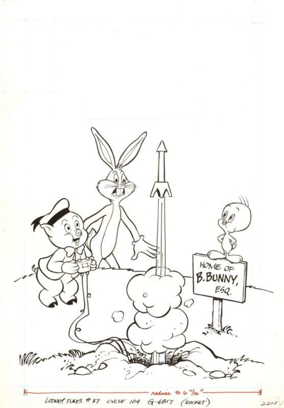 ORIGINAL : Looney Tunes # 37 Cover  ( 1981 )