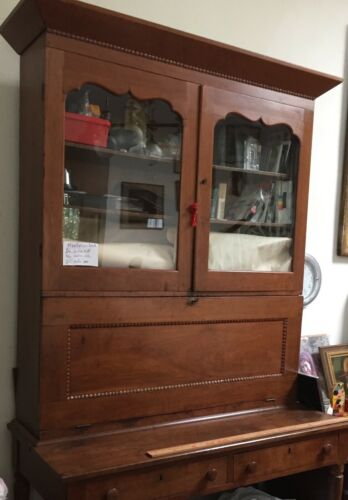 Antique Plantation Desk Cabinet  American   1880