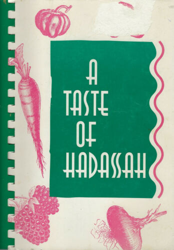 ST PAUL MN 1991 A TASTE OF HADASSAH COOK BOOK PASSOVER RECIPES * ETHNIC JEWISH