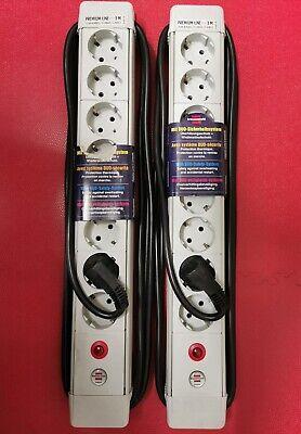 2 Stück Brennenstuhl 8-fach Steckdosenleiste 3m Kabel Mehrfachstecker (grau)