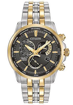 New Citizen Eco-Drive Calibre 8700 Perpetual Calendar Mens Watch BL8144-54H