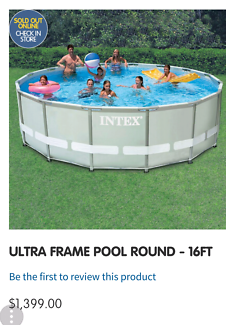New 16ft Intex swimming pool