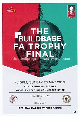 FA TROPHY & VASE  FINAL 2018 Brackley v Bromley & Thatcham v Stockton