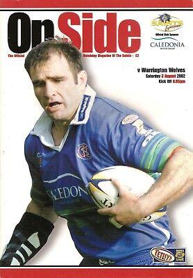 St Helens v Warrington - Super League 2002