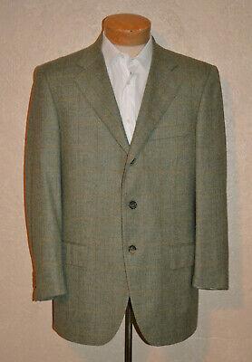 DORIANI 42 Cashmere 3/2 Roll Gray/Ivry Multi Windowpane Sport Coat Working Cuffs