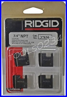 34 12r Npt S Alloy Pipe Threading Dies Set Of 4 Usa Made Ridgid 37830