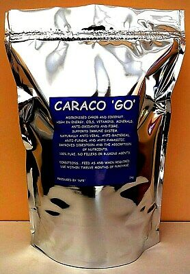 CARACO'GO' Racing Pigeons Supplement Vitamins Minerals Oil Calcium Flight Fuel.