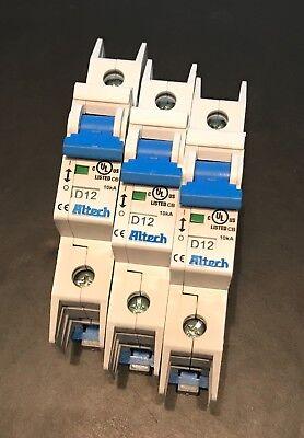 3 Pcs Altech 1du12l D-trip 12a Circuit Breaker New  Free Shipping