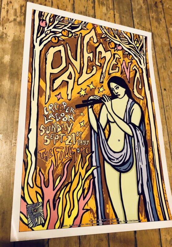 PAVEMENT Original Concert Poster Fillmore Brighten The Corners 1997 Malkmus