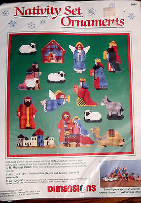 Nativity Set Ornaments by Dimensions 15 Pieces FACTORY SEALED PACKAGE