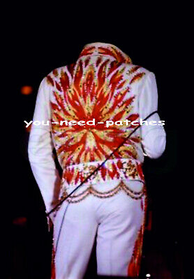 ELVIS PRESLEY JUMPSUIT FLAME COSTUMES BACK EMBROIDERY PATCH - Elvis Jumpsuits