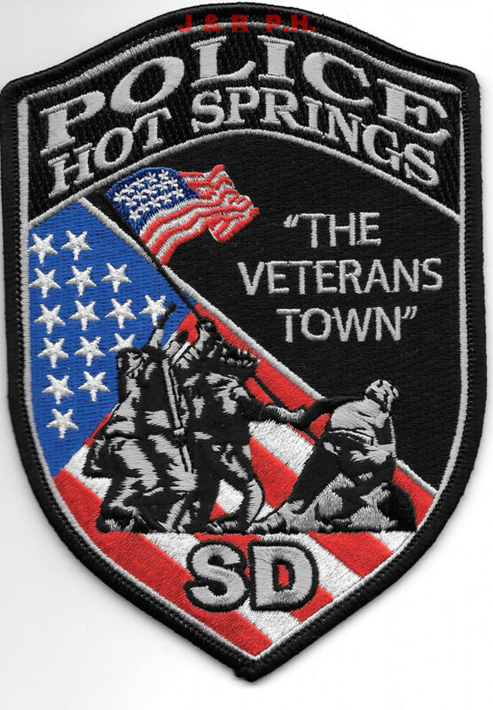 """Hot Springs, SD - Veterans Town (3.75"""" x 5.5"""" size) shoulder police patch (fire)"""