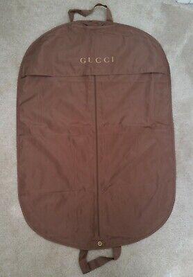 GUCCI short garment bag bronze gold clothes travel suit dress jacket luggage nr