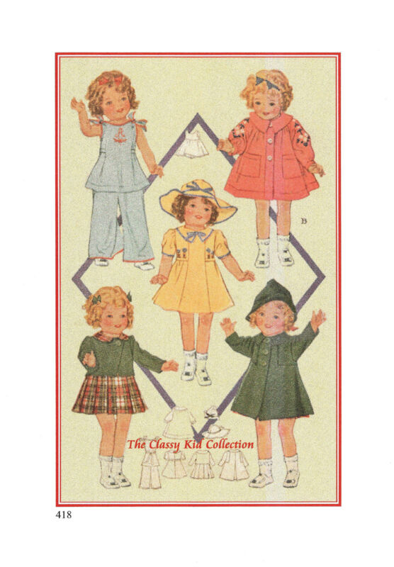 "25"" Pattern for Shirley Temple Doll   #418"