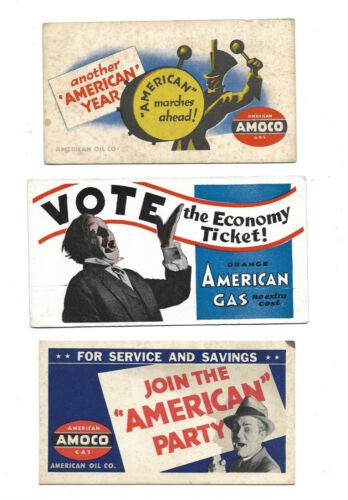 Vintage Amoco Patriotic & Voting Ink Blotters......Lot of 3