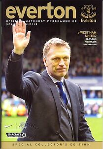 EVERTON v WEST HAM 2012/2013 MINT PROGRAMME DAVID MOYES LAST HOME GAME