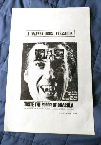 Taste the Blood Of Dracula Original US press book Christopher Lee
