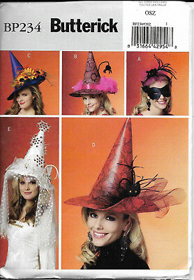Mask Sewing Pattern (Butterick Costume Sewing Pattern # BP234 Hats & Mask for All Sizes NEW)