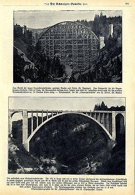 Schweiz Die Gmündertobelbrücke Sitterschlucht die größte Betonbrücke Europas1909