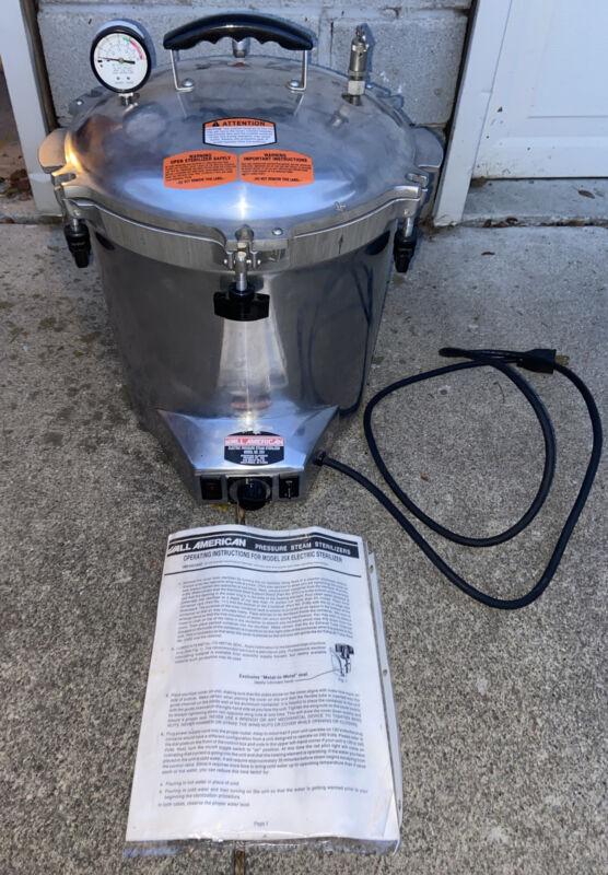 All American Pressure Steam Sterilizer Electric Model 25X Portable Autoclave USA