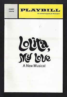 "Dorothy Loudon ""LOLITA, MY LOVE"" Alan Jay Lerner 1971 Musical FLOP Playbill"