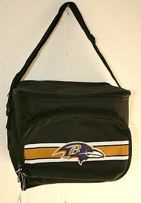 AFC Baltimore Ravens NFL Football Team Lunch Cold 6 pack Beach Pool Bag New Tag