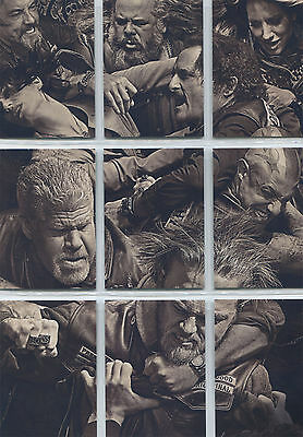 Sons Of Anarchy Seasons 6   7 Brawl Puzzle Complete 9 Chase Card Set