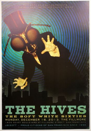The Hives Rolling Stone Private Concert Series SF Fillmore Gig Poster 2013 Bee