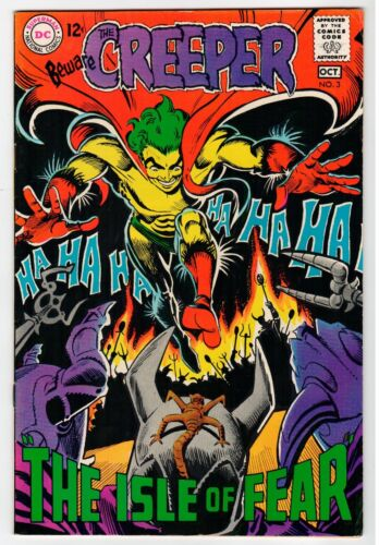 DC - THE CREEPER #3 - Ditko Cover & Art - VF Oct 1968 Vintage Comic