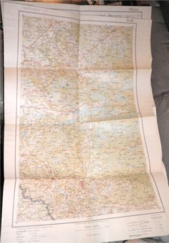 WWI 1915 German Army Military Map E.Europe,Pinsk,Belarus,Hungary,Prussia,RARE