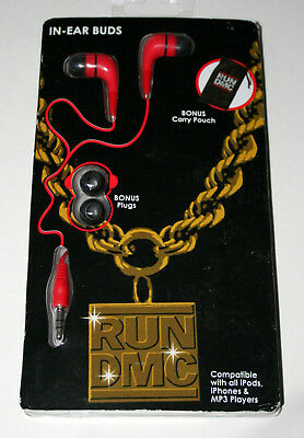 RUN DMC Rap Group In Ear Buds w/ Collectible Pouch New NOS in Package