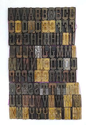 Vintage Letterpress Woodwooden Printing Type Block Typography 101 Pc 70mmlb141