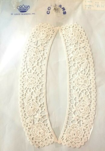 Vintage White Embroidered Collar